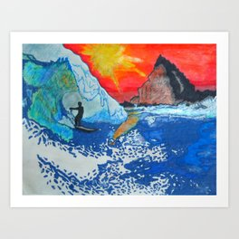 Get Pitted Art Print