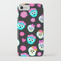 sugar skulls iPhone & iPod Cases featuring Sugar skulls by Eviedoll
