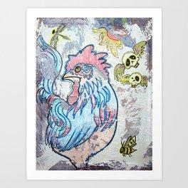 Rooster Road Art Print