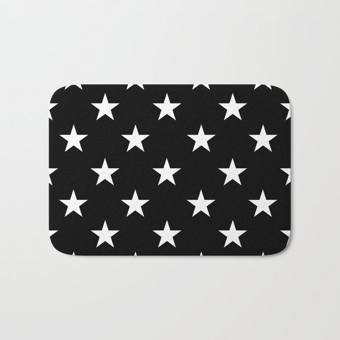 Stars (White/Black) Bath Mat