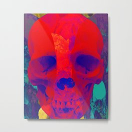 Skulls-Compilation Metal Print