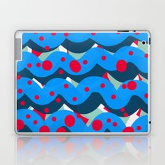 abstract pop art pattern design blue red Laptop & iPad Skin