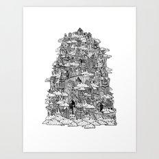 Clouded City Art Print