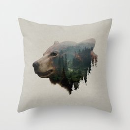 The Pacific Northwest Black Bear Throw Pillow