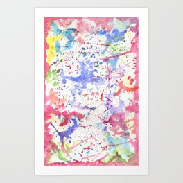 Watercolor Splash Paint Splatter Art Print
