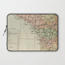 Old Map of the West of France Laptop Sleeve