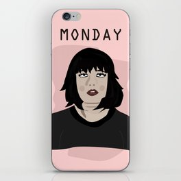 The Monday Girl iPhone Skin