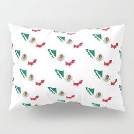 Flag of mexico 3- mexico,mexico city,mexicano,mexicana,latine,peso,spain,Guadalajara,Monterrey Pillow Sham
