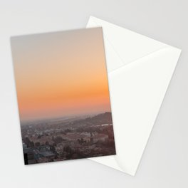 colorful sunset in Bergamo Stationery Cards