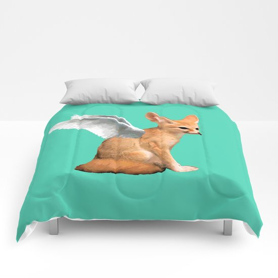 Winged Fennec Fox Comforters