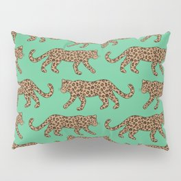 Kitty Parade - Classic on Jungle Green Pillow Sham