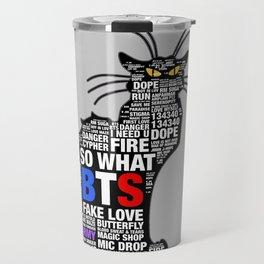 KPOP  BTS Cat Travel Mug