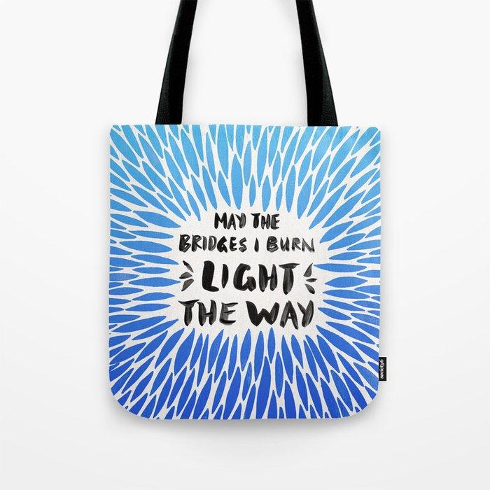 Bridges Burned – Blue Ombré Tote Bag