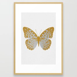 Silver Butterfly Framed Art Print