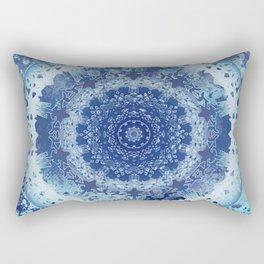 Chambray Anenome Mandala Rectangular Pillow