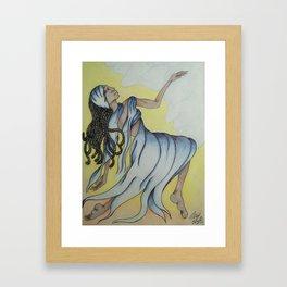 Sunshine Dance in Blue Framed Art Print