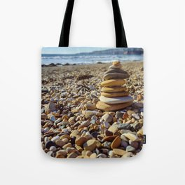 Stacked on the Shore Tote Bag