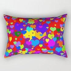 Mille coeurs gais Rectangular Pillow