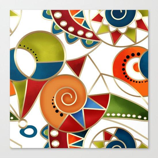 The art design. Carousel. Canvas Print
