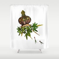 jellyfish Shower Curtains featuring Jellyfish by Sybille Sterk