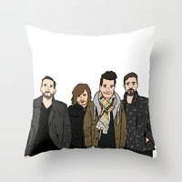 bastille Throw Pillows featuring Bastille by wellsi