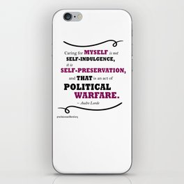 Audre Lorde: Caring for Self iPhone Skin