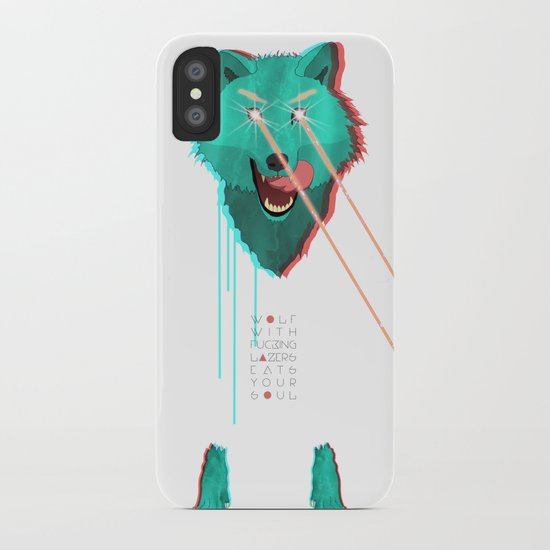 Wolf With F**king lasers iPhone Case
