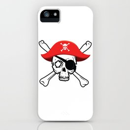 Pirate Skull and Crossbones Jolly Roger  design iPhone Case