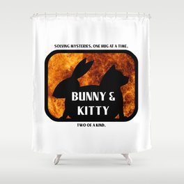 Bunny and Kitty Two of a Kind Shower Curtain