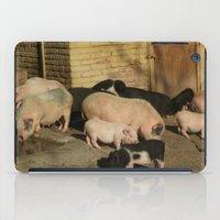 pigs iPad Cases featuring Pigs' Party by Vito Fabrizio Brugnola