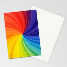 colorful twirl background  creative vortex rainbow backgrounds colorful backgrounds wavy textures abstract backgrounds Stationery Cards