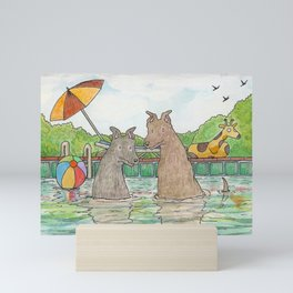 Pool Party Mini Art Print