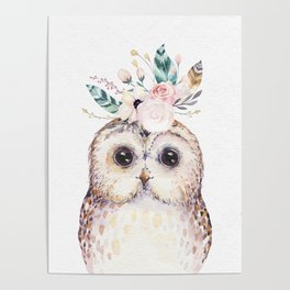 Forest Owl by Nature Magick Poster