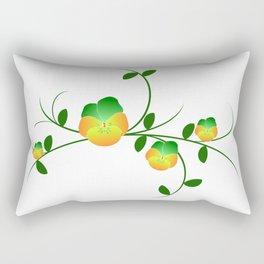 violets, violet, flowers, garden, flower, nature Rectangular Pillow