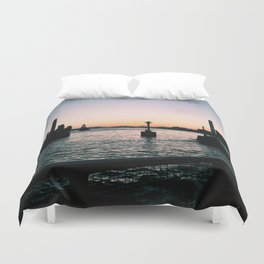 buoy by the sea Duvet Cover