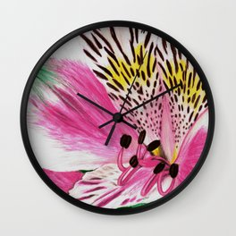 Peruvian Lilies Wall Clock