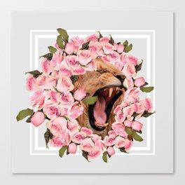 Flower Lion Canvas Print