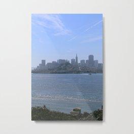 Downtown San Francisco from Alcatraz Metal Print