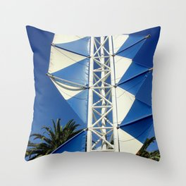 Wind Sails Throw Pillow