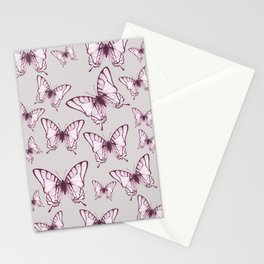 butterfly pattern in purple Stationery Cards