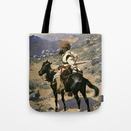 "Frederic Remington Western Art ""An Indian Trapper"" Tote Bag"