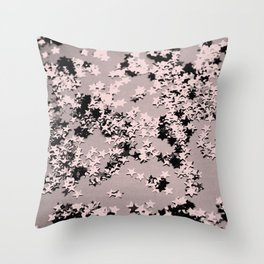 Blush Glitter Stars #1 #shiny #decor #art #society6 Throw Pillow