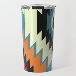 Navajo shapes in orange and blue Travel Mug
