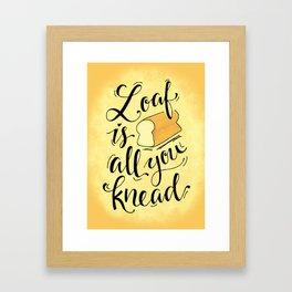 Loaf Love Framed Art Print