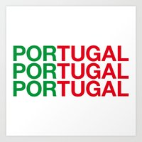 portugal Art Prints featuring PORTUGAL by eyesblau