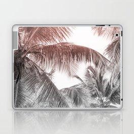 High palms on a tropical beach Laptop & iPad Skin