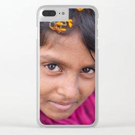 Slum Flower Clear iPhone Case