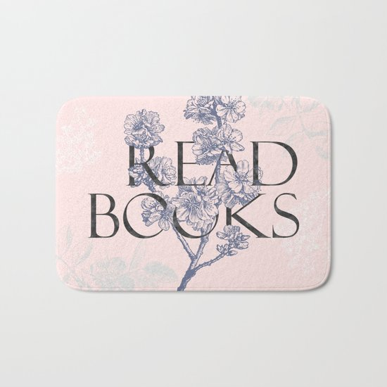 Read Books vintage typography Bath Mat