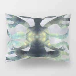 Yoga in Translucent Agate and Mother of pearl Pillow Sham