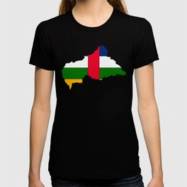 Central African Republic Map with Flag T-shirt